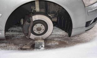 Zlodej odmontoval z auta všetky štyri kolesá, vodičke Audi vznikla škoda za 1 300 eur